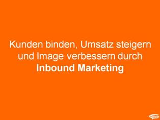inBlurbs Inbound Marketing Praesentation Inbound Marketing Präsentation