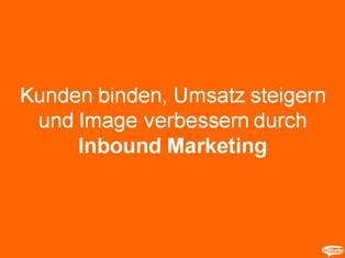 """inBlurbs Inbound Marketing Praesentation """"Social Media"""" ist kein ganzheitlicher Ansatz um Kunden zu gewinnen!"""