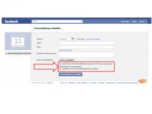 veranstaltung bei facebook öffentlich oder nicht öffentlich