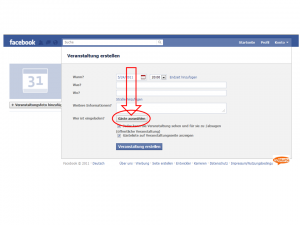 veranstaltung bei facebook einstellen und gäste auswählen