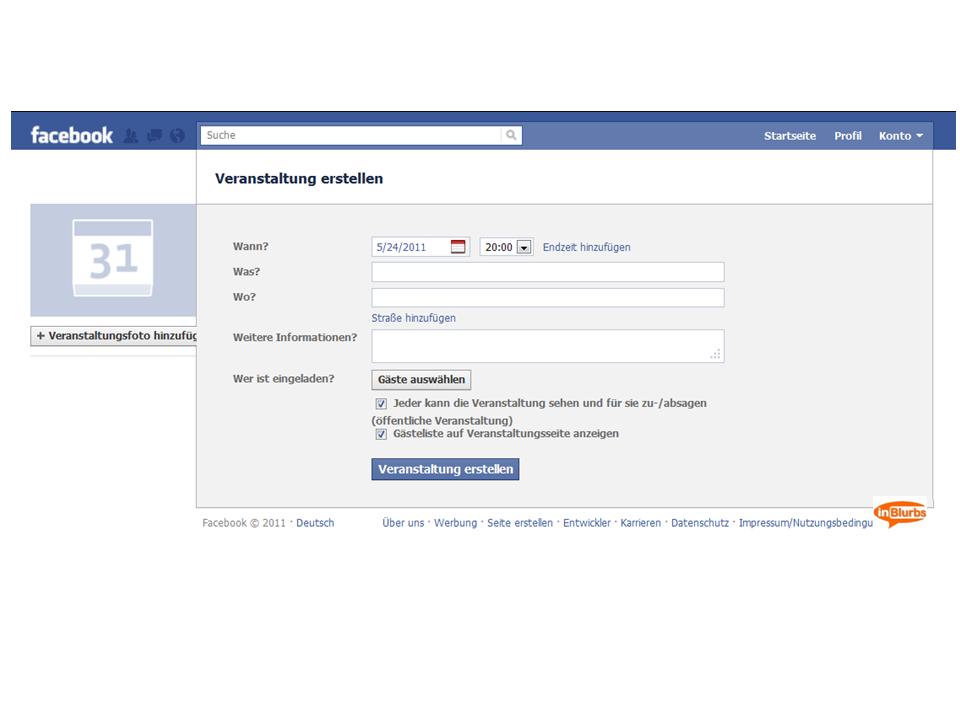 veranstaltung bei facebook einstellen