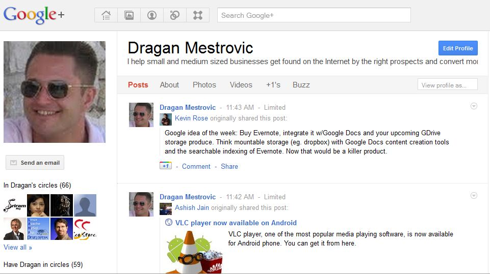 google plus profile dragan mestrovic