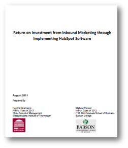 ROI of HubSpot: An MIT & Babson Joint Study